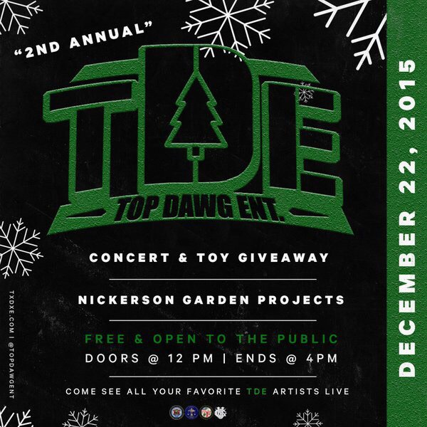 2ND ANNUAL TDE CONCERT & TOY DRIVE