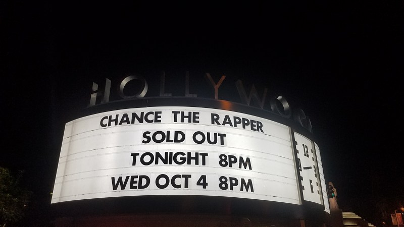 Chance the Rapper Performs New Song at Hollywood Bowl Show