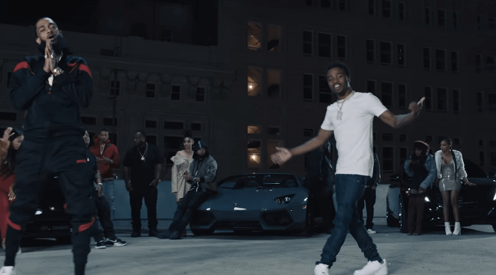 """Nipsey Hussle – """"Racks In The Middle"""" Feat. Roddy Ricch Music Video"""