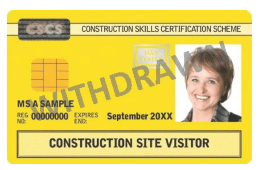 Construction Site Visitor CSCS Cards expire for all