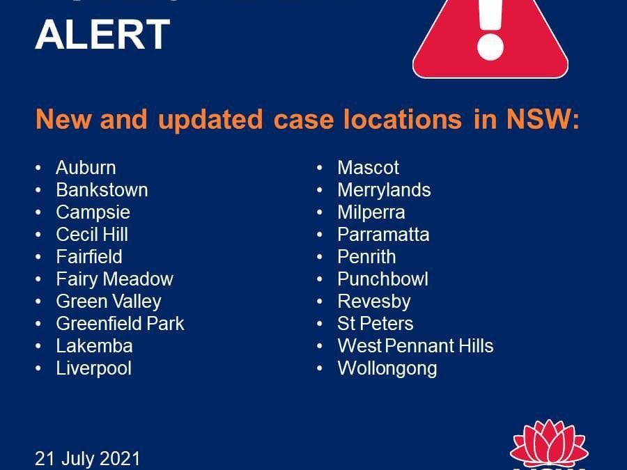 COVID-19 Alert in West Pennant Hills