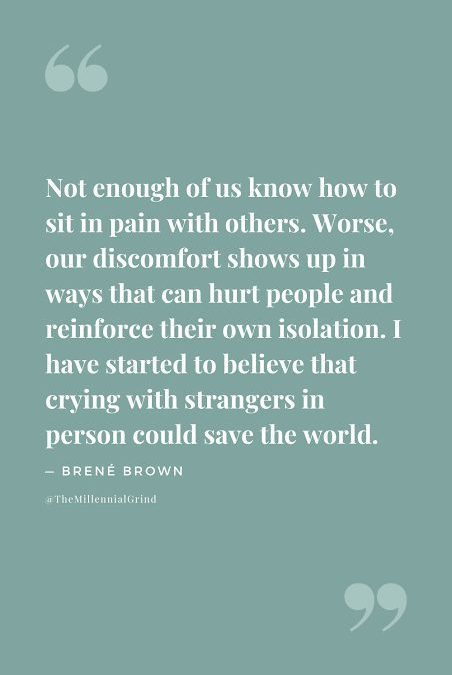 Crying with strangers can change the world