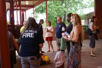 Forbes families learning about firefighting