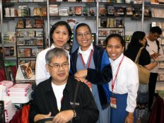 Sr Tina with formands and Fr Gil