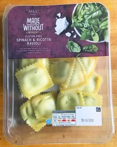M&S made without wheat ravioli pasta review