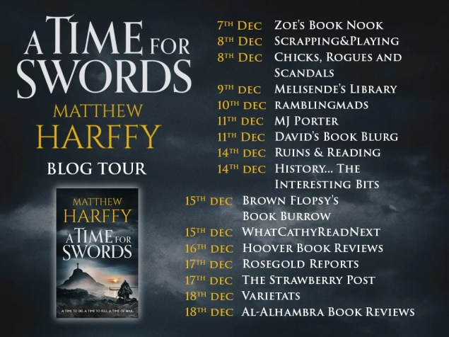 blog tour poster incorporating the novel cover along with dates and blog titles
