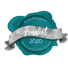 Book bloggers novel of the year 2020 finalist logo