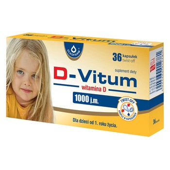 D Vitum Vitamin D 1000 IE Twist Off Kapseln 36 Stk.