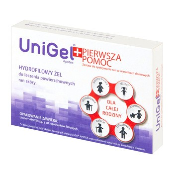 UniGel Apotex Erste Hilfe Set Gel 5 g Verband