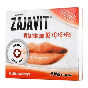 Zajavit Vitamin B2 C E Fe Dragees 30 Stk.