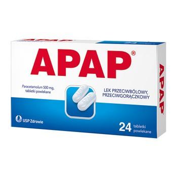 Apap, 500 mg, Filmtabletten, 24 Stück