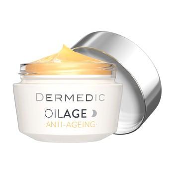Dermedic Oilage, reparierende Nachtcreme, die die Hautdichte wiederherstellt, 50 g