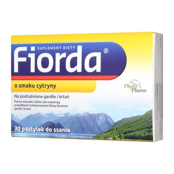 Fiorda, Lutschtabletten mit Zitronengeschmack, 30 Stk.