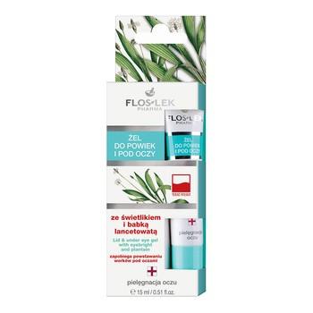 FlosLek Pharma, Augenlid- und Augengel mit Glühwürmchen und Wegerich, 15 ml
