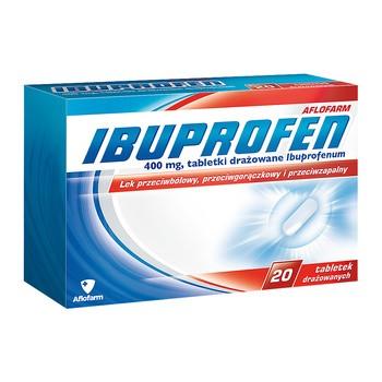 Ibuprofen Aflofarm, 400 mg, Dragees, 20 Stück