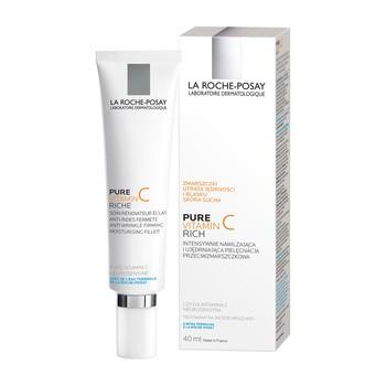 La Roche Posay Redermic C, faltenauffüllende Creme, intensiv straffend für trockene Haut, 40 ml