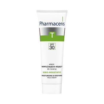 Pharmaceris T Sebo feuchtigkeitsspendende, feuchtigkeitsspendende und beruhigende Gesichtscreme, LSF 30, 50 ml