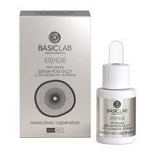 BasicLab Esteticus, Anti Falten Behandlung unter den Augen, feuchtigkeitsspendend und straffend, 15 ml