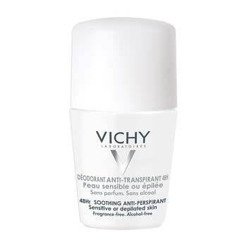 Vichy, Antitranspirant Roll-on für empfindliche Haut oder nach der Enthaarung, 50 ml