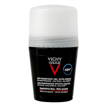 Vichy Homme, Deo-Antitranspirant 48h, empfindliche Haut, Roll-on, 50 ml