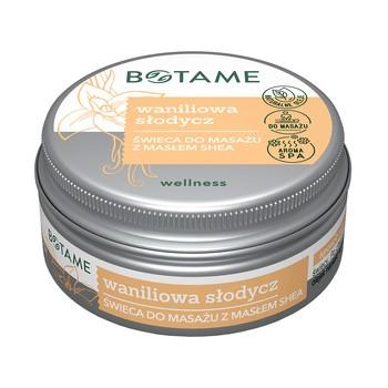Botame Vanilla Sweetness, Sheabutter Massagekerze, 50 ml