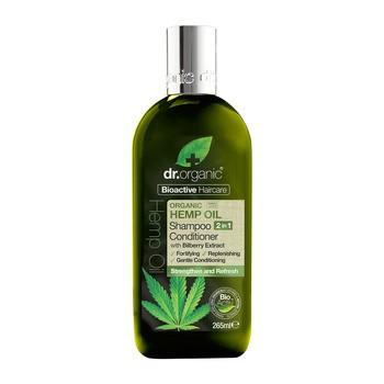 Dr Bio-Hanföl, 2 in 1 Shampoo und Conditioner mit Bio-Hanfsamenöl, 265 ml
