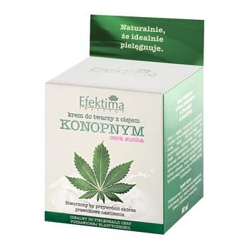 Efektima, Gesichtscreme mit Hanföl, trockene Haut, 50 ml