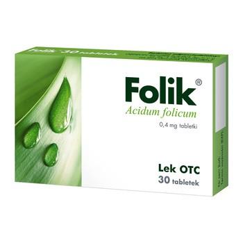 Folik, 0,4 mg, Tabletten, 30 Stück