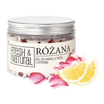 Fresh Natural, Rosenbadesalz mit Rose und Zitrone, 500 g