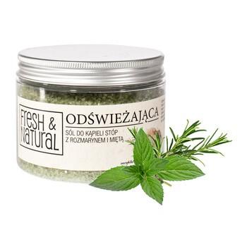 Fresh Natural, erfrischendes Fußbadesalz mit Rosmarin und Minze, 500 g