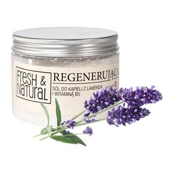 Fresh Natural, regenerierendes Badesalz mit Lavendel und Vitamin B5, 500 g