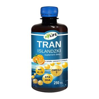 Isländisches Fischöl, Orangenaroma, Öl, 250 ml