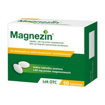 Magnezin, 130 mg Magnesiumionen, Tabletten, 60 Stück.