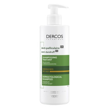 Vichy Dercos, Anti Schuppen Shampoo für trockenes Haar, 390 ml