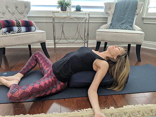 restorative yoga reclining bound angle