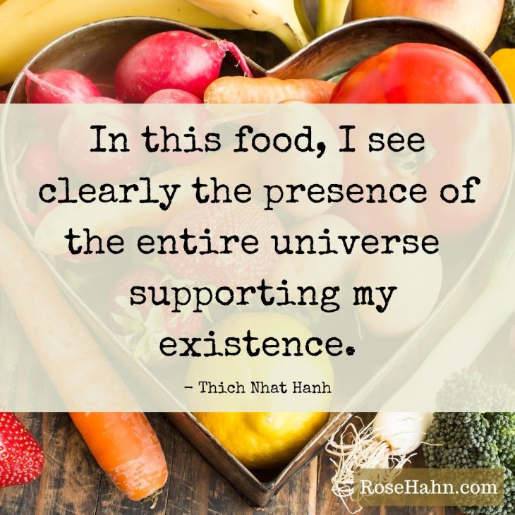Mindfulness Quote by Thich Nhat Hanh. Mindful eating can transform your life.