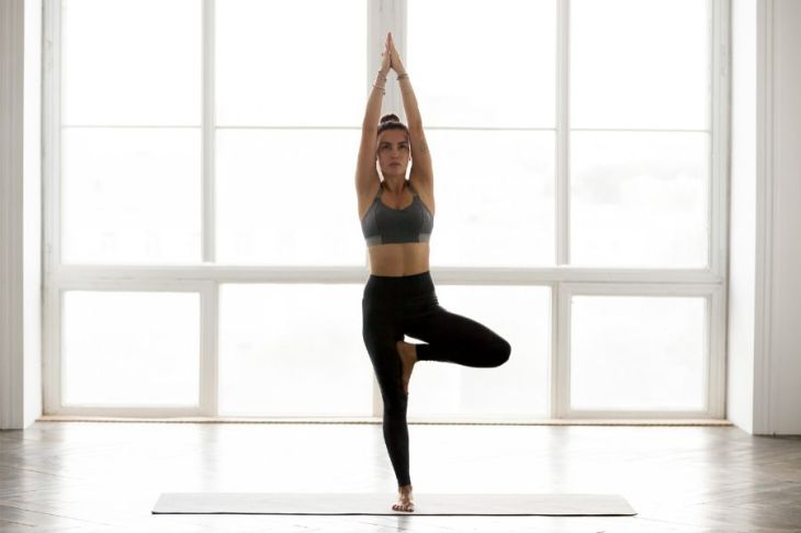 Tree Pose supports self-confidence by building core strength & stability.