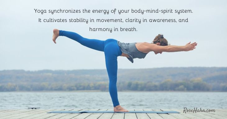 Gentle Flow Yoga Sequence to synchronize the energy of your body-mind-spirit system.