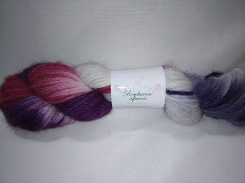 purple and red yarn