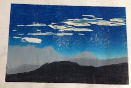 Linda's finished print