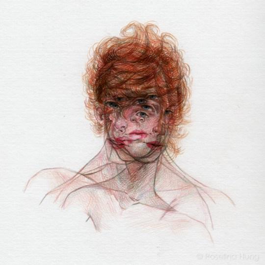 "Roselina Hung - Phantasmagoria 3, coloured pencil on paper, 11"" x 14"", 2013"