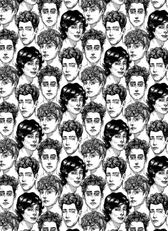 Roselina Hung - pretty boys kill me, wallpaper installation, 2013