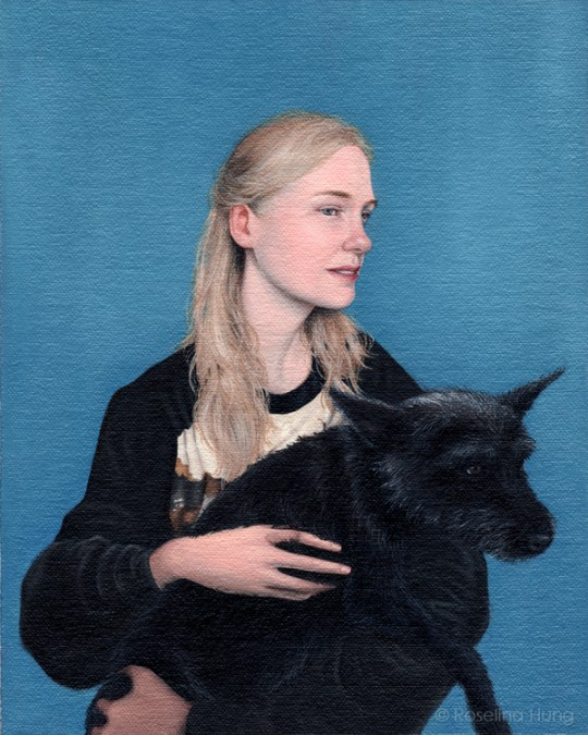 Roselina Hung - Heather & Zippy, Oil on linen on board, 2013