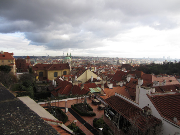 We stayed up on the hill by Prague Castle, with a view of the city below
