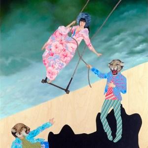 Between Serendipity & Happenstance, Oil on wood panel, 24 x 36 in, 2011
