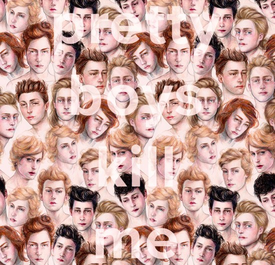 pretty boys kill me, Archival inkjet print on watercolour paper, 16 x 20 inches, limited edition of 10, 2014