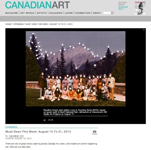 Must-Sees This Week: August 15 to 21, 2013 by Canadian Art