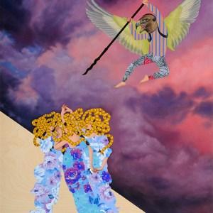 Medusa & Her Mortal Sisters, Oil on wood panel, 36 x 48 in, 2014