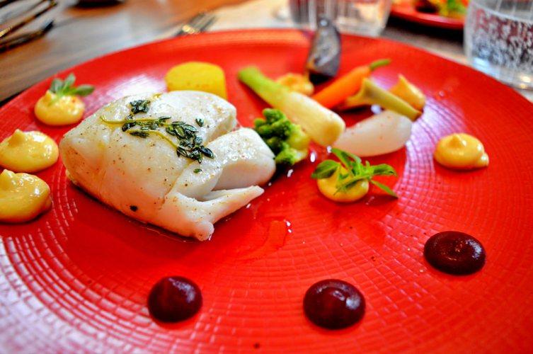 Cod fish dish at Les Fables de la Fontaine in Paris.