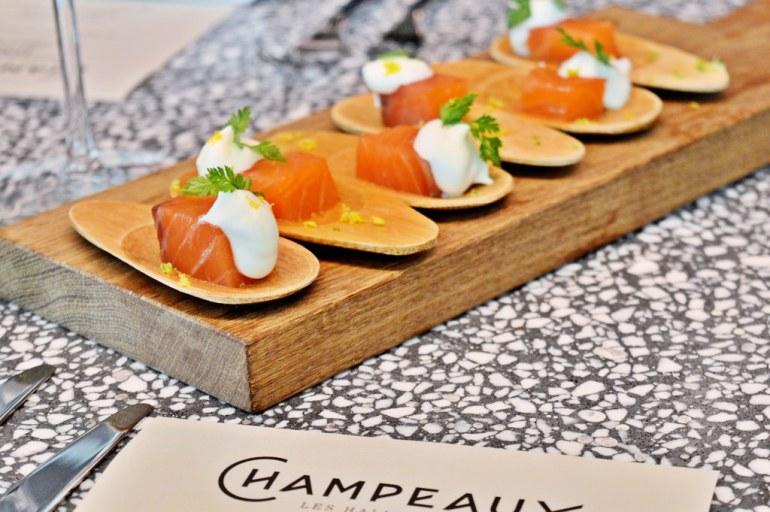 Salmon at Champeaux, Paris.